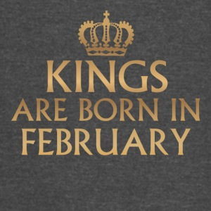 Kings are Born in February - Vintage Sport T-Shirt