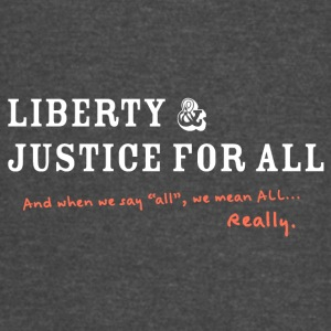 Liberty and Justice Reverse with Edit - Vintage Sport T-Shirt