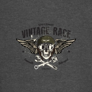 Vintage race skull with sun glass and wings - Vintage Sport T-Shirt