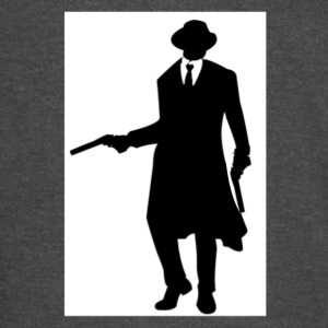 BLACK AND WHITE GANGSTER WITH GUN AND TUXEDO - Vintage Sport T-Shirt
