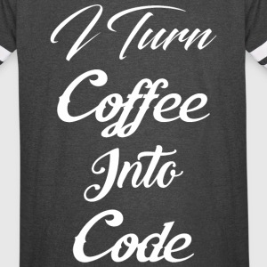 I Turn Coffee Into Code - Vintage Sport T-Shirt
