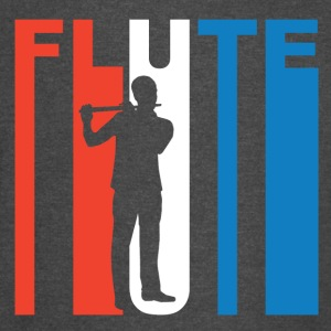 Red White And Blue Flute - Vintage Sport T-Shirt