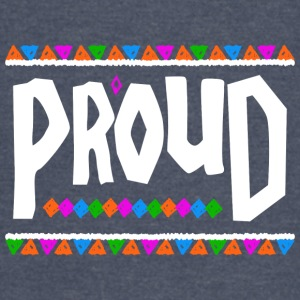Proud - Tribal Design (White Letters) - Vintage Sport T-Shirt