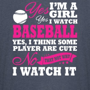 I'm A Girl, I Watch Baseball - Vintage Sport T-Shirt