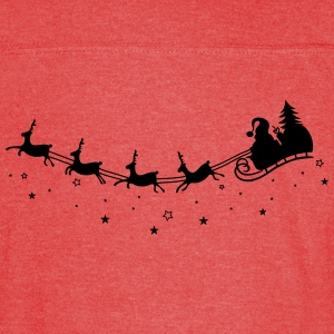 Merry Christmas. Reindeer with sleigh - Vintage Sport T-Shirt