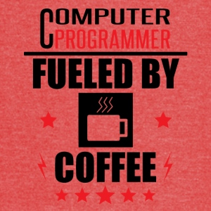 Computer Programmer Fueled By Coffee - Vintage Sport T-Shirt