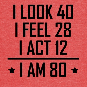 I Am 80 Funny 80th Birthday - Vintage Sport T-Shirt