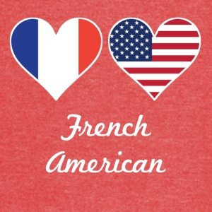 French American Flag Hearts - Vintage Sport T-Shirt