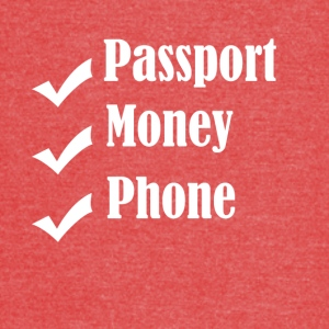 Passport Money Phone - Vintage Sport T-Shirt
