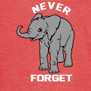 Baby Elephant Never Forgets - Vintage Sport T-Shirt