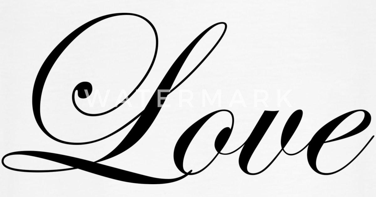 Love - Fancy Cursive Design (Black Letters) Unisex Vintage Sport T-Shirt    Spreadshirt
