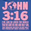 JOHN 3:16 FOR GOD SO LOVED THE WORLD - Men's Hoodie
