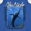 Blue Marlin fishing ,long sleeve t-shirt - Men's Hoodie