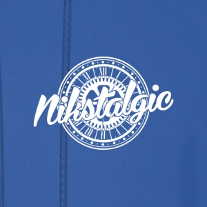 Nikstalgic - Name with Clock - White - Men's Hoodie