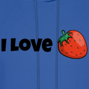 I love strawberries strawberry tasty fruit gift - Men's Hoodie