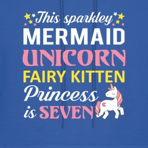 Mermaid Unicorn Princess 7th Birthday - Men's Hoodie