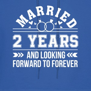 2nd Wedding Anniversary Looking Forward - Men's Hoodie
