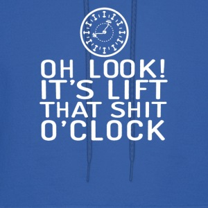 Oh Look It s Lift That Shit clock - Men's Hoodie