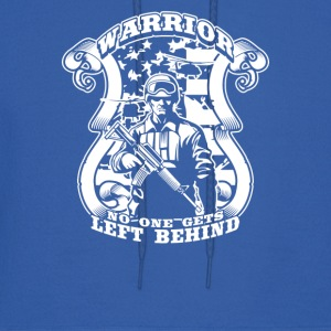 Warrior No One Gets Left - Men's Hoodie