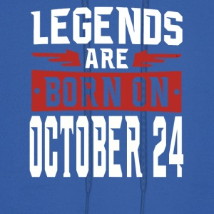 Legends are born on October 24 - Men's Hoodie