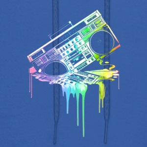 Melting Boombox in Rainbow Colors - Men's Hoodie