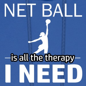 Netball is my therapy - Men's Hoodie