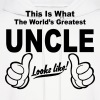 Worlds Greatest Uncle Looks Like - Men's Hoodie