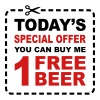Free Beer - Special Offer Coupon - Men's Hoodie