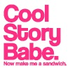 Cool Story Babe.  Now make me a sandwich.  Pink. - Men's Hoodie