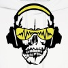equalizer dj headphones skull head - Men's Hoodie