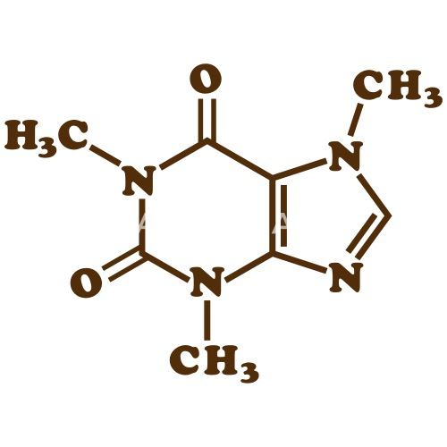 Caffeine Molecular Chemical Formula By Tinybiscuits Spreadshirt