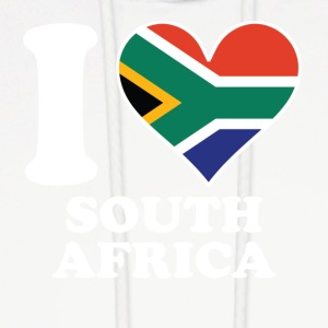 I Love South Africa South African Flag Heart - Men's Hoodie