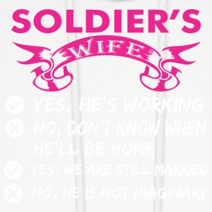 Soldiers Wife Yes Hes Working - Men's Hoodie