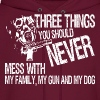 Three Things You Should Never Mess With My Family - Men's Hoodie