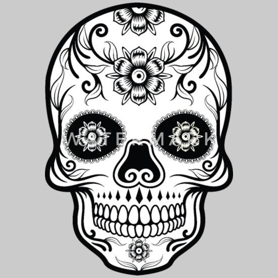 Black And White Sugar Skull Men S Hoodie Spreadshirt