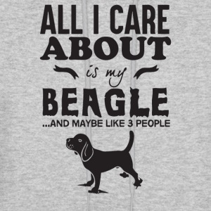 All I care About is my Beagle - Men's Hoodie