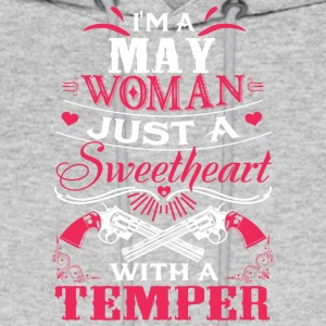 I'm a may woman Just a sweetheart with a temper - Men's Hoodie