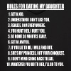 Rules For Dating My Daughter (white print) - Men's Hoodie