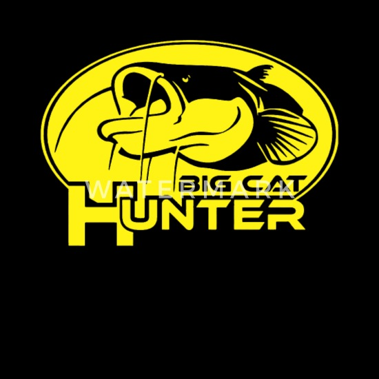BIG CAT HUNTER catfish t-shirt predator zander perch bass pike fishing spinning