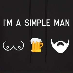 i am a simple man - tits beer beard male movember - Men's Hoodie