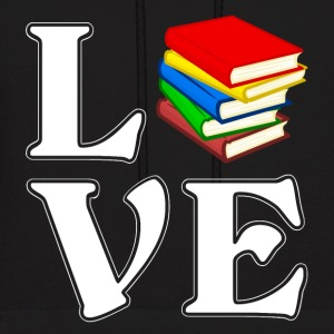 I love books - reading -bookworm - Men's Hoodie