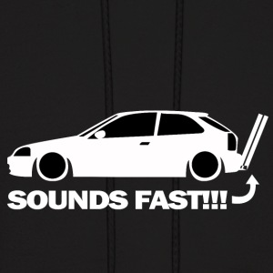 sounds fast - Men's Hoodie