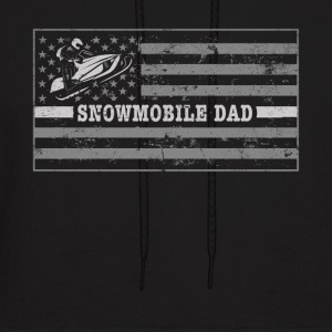 Snowmobile Flag Snowmobile Riding Dad Snowmobile Clothing - Men's Hoodie
