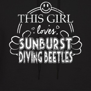 Girl Loves Sunburst Diving Beetles Insects Shirt - Men's Hoodie