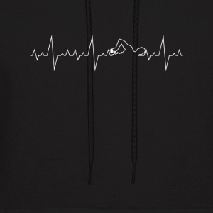 Heartbeat Swimming Water-Sport Gift Heart Line - Men's Hoodie