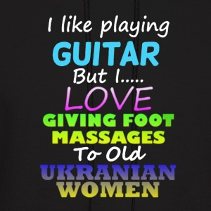 I Like Playing Guitar Shirt - Men's Hoodie