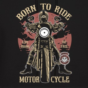 Born To Ride. Great biker shirt for tough people! - Men's Hoodie