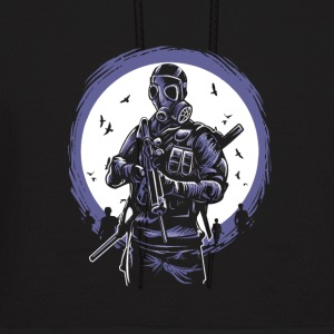 Gas Mask Soldier of the apocalypse. End is near. - Men's Hoodie