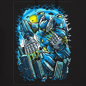 Destroy The City. The Horrible Robot Attack. - Men's Hoodie