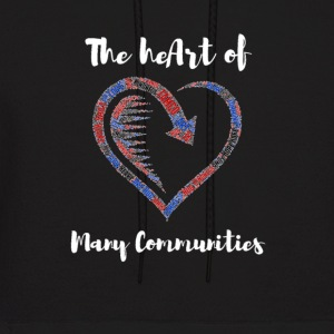 The heArt of Many Communities - Men's Hoodie